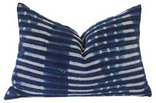 """Malian Indigo """"Patched"""" Pillow - 26"""" L x 18"""" H - Feather/down insert - One Kings Lane"""