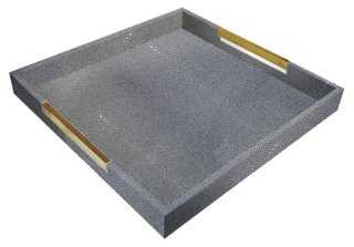 Shagreen-Style Tray - One Kings Lane