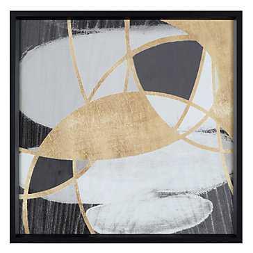 Golden Eclipse -25.5''W x 25.5''H -Framed - Z Gallerie