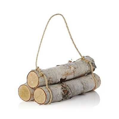 Set of 3 Birch Logs - Crate and Barrel