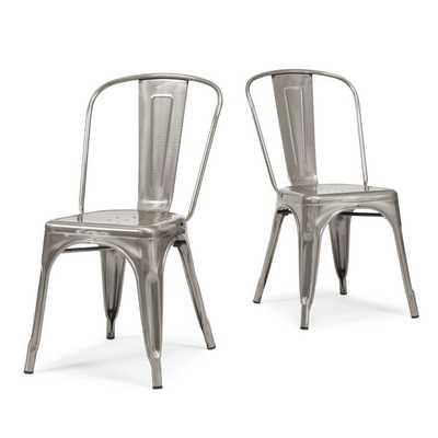 Tabouret Bistro Gunmetal Side Chairs (Set of 2) - Overstock
