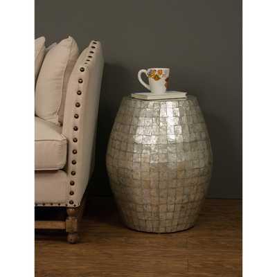 Baldwyn Grey Round Side Table - Overstock