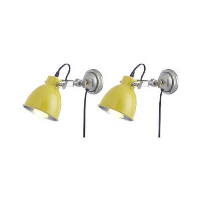 Set of 2 Knox Yellow Sconces - Crate and Barrel