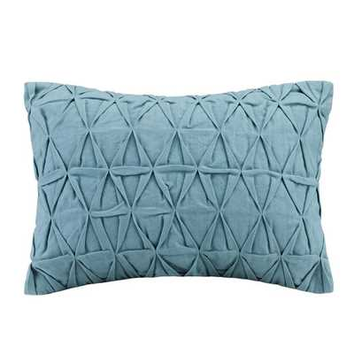 "Crete Cotton Throw Pillow - Teal - 12"" H x 16"" W - Polyester fill - AllModern"