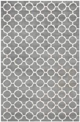 Safavieh Chatham Dark Grey & Ivory Area Rug - Wayfair