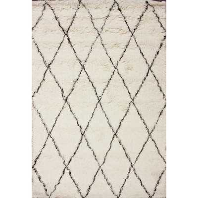 Moderna Ivory Moroccan Shag Area Rug - Wayfair