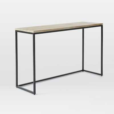 Box Frame Console Table - Whitewash - West Elm