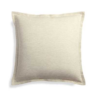 """Linden Natural 18"""" Pillow with Feather-Down Insert - Crate and Barrel"""