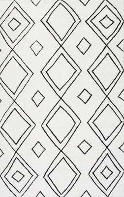 Vega Moroccan Hand Tufted Diamond Wool Rug - Rugs USA