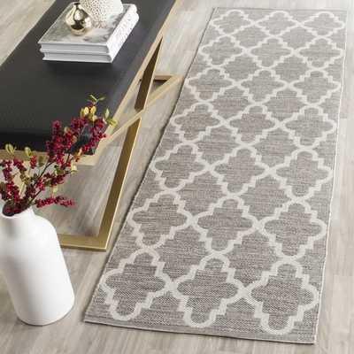 Safavieh Hand-Woven Montauk Grey/ Ivory Cotton Rug (2'3 x 7') - Overstock