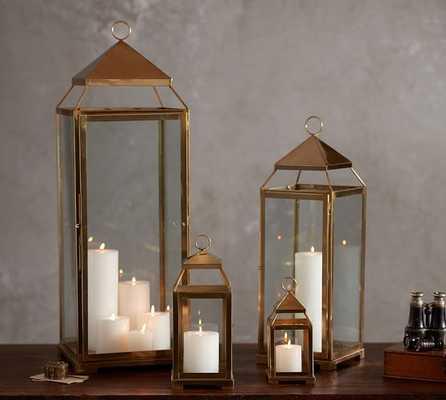 Malta Brass Lantern - Small - Pottery Barn