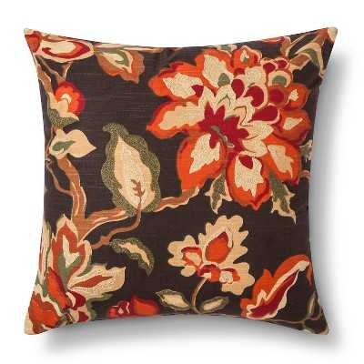 """Multi Floral Throw Pillow - 18"""" x 18"""" - Polyester fill - Target"""