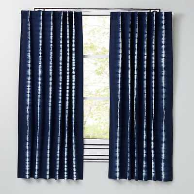 "Tie-Dye Curtain - Blue, 63"" - Land of Nod"