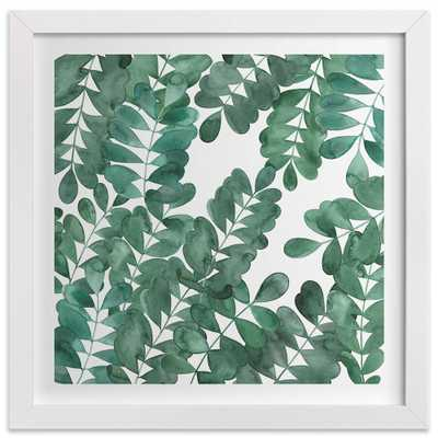"""Leafy Bowers-24""""x24""""-Framed - Domino"""