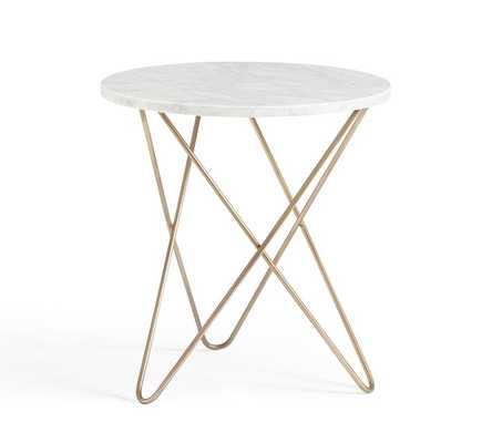 DARCY MARBLE-TOP ACCENT SIDE TABLE - Pottery Barn