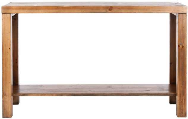 Lahoma Console, Medium Oak - Tressle