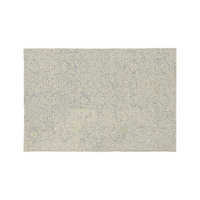 Trystan Blue Wool-Blend 6'x9' Rug - Crate and Barrel