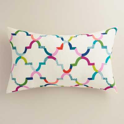 "Oceans Gate Outdoor Lumbar Pillow - 14""W x 23""L - Polyester filling - World Market/Cost Plus"