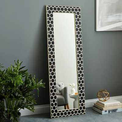 Bone Inlay Floor Mirror - Black - West Elm