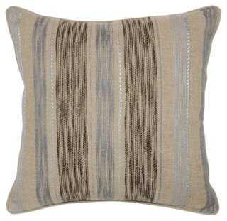 Jillian 22x22 Linen Pillow - One Kings Lane
