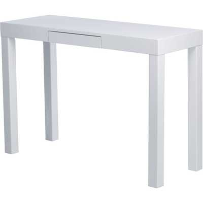 Lachlan Glossy White Sofa Table - Overstock