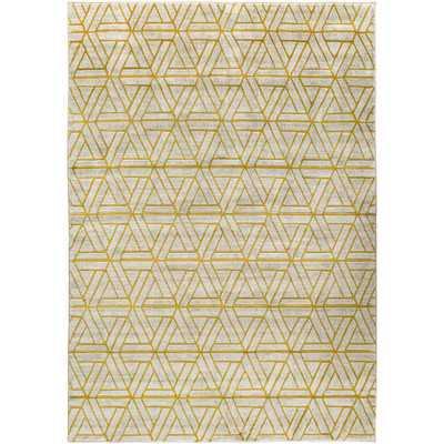 Jax Light Gray/Gold Area Rug - Wayfair
