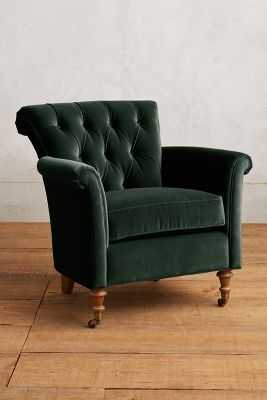 Velvet Gwinnette Chair - Anthropologie
