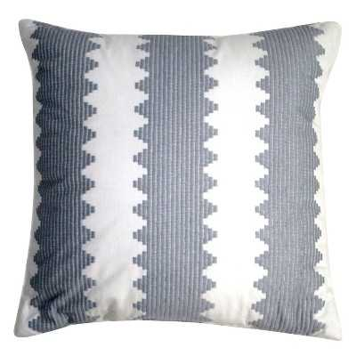 "Gray Embroidered Pillow - 18"" x 18"" - Polyester fill insert - Target"