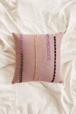"Magical Thinking Yucca Pillow, Purple - 18"" sq. - Polyfill insert - Urban Outfitters"