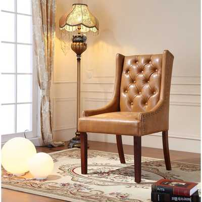 Royal Comfort Martis Light Brown Faux Leather Luxury Arm Chair - Overstock