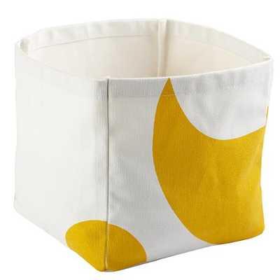 Color Pop Cube Bin (Yellow) - Land of Nod