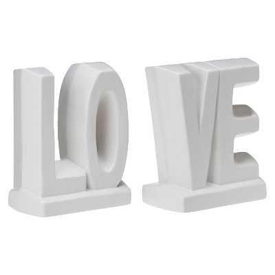 LOVE Ceramic Bookend Set - Target