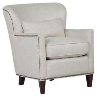 Colin Wingback Chair, Natural - One Kings Lane