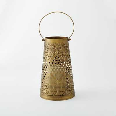 Punched Metal Lanterns-Small - West Elm
