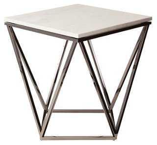 Jasmine Side Table, Black - One Kings Lane