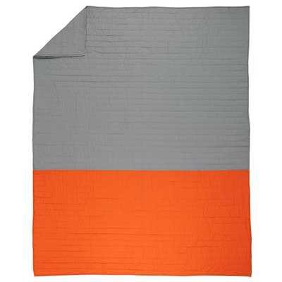 Twin Little Prints Quilt (Orange) - Land of Nod