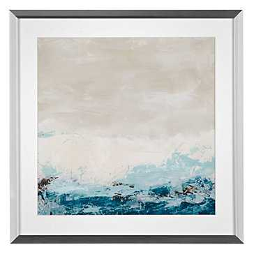 Coastal Currents 2 - 23.25''W x 23.25''H - Framed - Z Gallerie