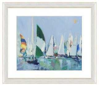 "Sailing Boat Print III- 26"" x 30""- Framed - One Kings Lane"
