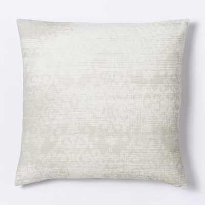 Velvet Scroll Pillow Cover - Ivory - West Elm