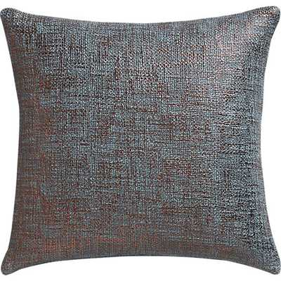 "Glitterati slate 16"" pillow with feather insert - CB2"