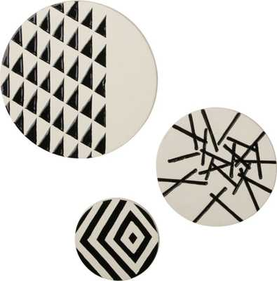 3-piece marlow ceramic disc set - CB2