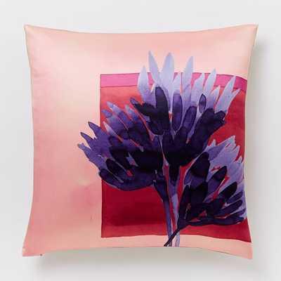 "Roar + Rabbit Protea Silhouette Pillow Cover - Poppy - 18""sq. - Insert sold separately - West Elm"