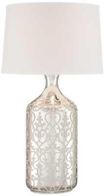 Patty Mercury Glass Bottle Table Lamp - Lamps Plus