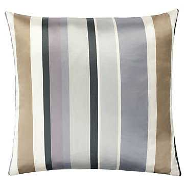 Strato Pillow -24''W x 24''H  - Grey- Polyester/ Feather/ down fill insert - Z Gallerie