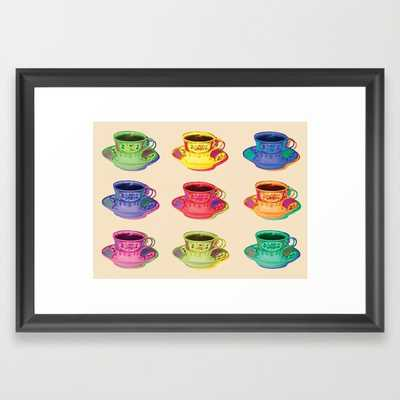 Vintage Pop Art Tea Cup Style - Framed - Society6