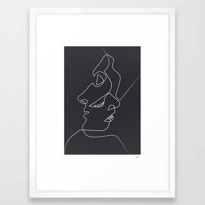 Close Noir - 20x26, Framed - Society6