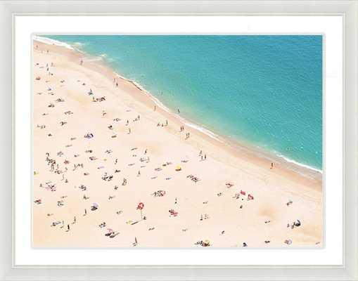 "Beach Scene Print I - 18"" x 22"" - Framed - Domino"