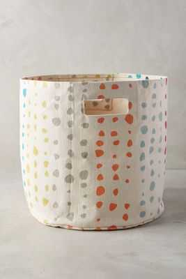 Painted Spots Basket - Small - Anthropologie