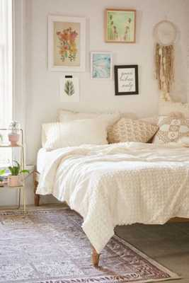 Plum & Bow Tufted Dot Duvet Cover-King- Cream - Urban Outfitters