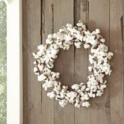 Blooming Cotton Wreath - Birch Lane